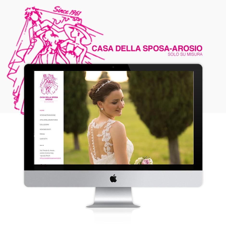 Realizzazione sito web casa della sposa arosio for Sito web di progettazione della casa